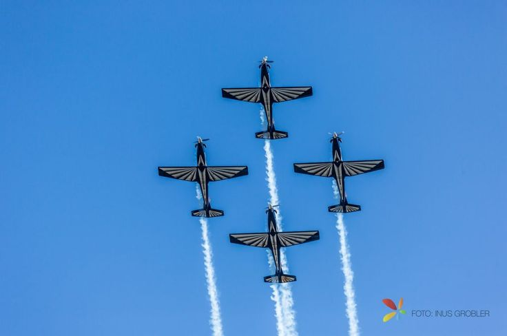 Airshow, The Bottom of Four Planes in The Air