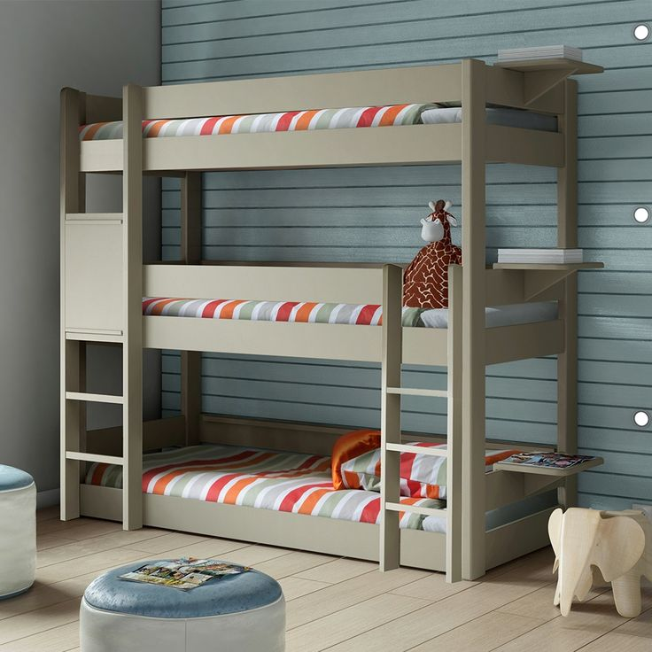 Captivating Kids Bedroom Tier Triple Bunk Bed Bunkbed Modern Bunk Beds Other Metro With Sweet  Design