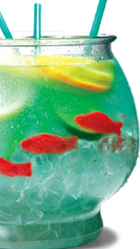 Fish bowl recipe and how to happy hour best adult for Fish bowl drink recipe