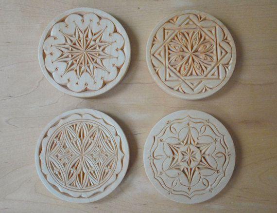 Chip Carved Coaster Set