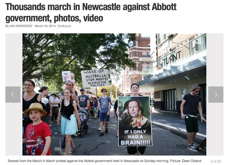 """""""Greens councillor Therese Doyle, who represented the Refugee Action Network Newcastle, was roundly applauded when she said it was hypocritical to talk about ''the international movement of capital'' but not allow the free movement of people."""" Newcastle Herald, March 16, 2014 www.theherald.com... #marchinmarch"""