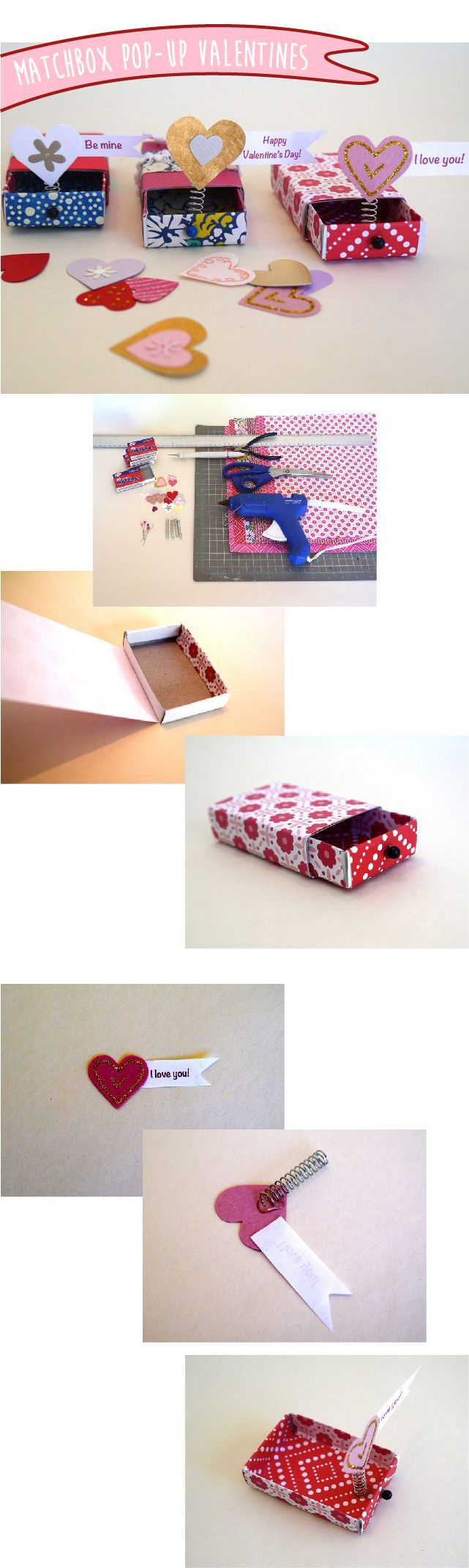 Clever idea! Say Happy Valentine's Day with a homemade pop-up Valentine out of matchboxes. How-to  instructions here: www.ehow.com/...