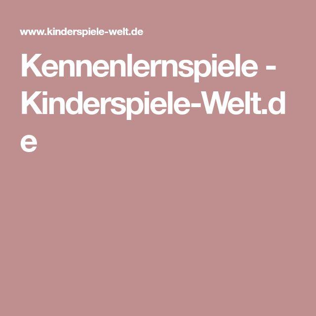Kennenlernspiele - Kinderspiele-Welt.de