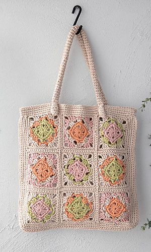 Granny Square Bag Free Pattern : ... Squares Bags, Lessons Bags, Granny Square Bag, Handbags Pattern, Free