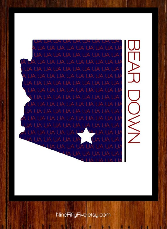 University of Arizona  Wall Art  Digital  by NineFiftyFive on Etsy, $1.00