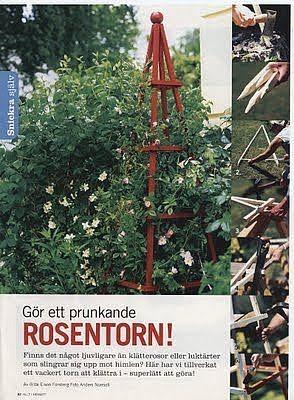 Trädgårdstoken: Beskrivning på växtstöd/rosentorn.