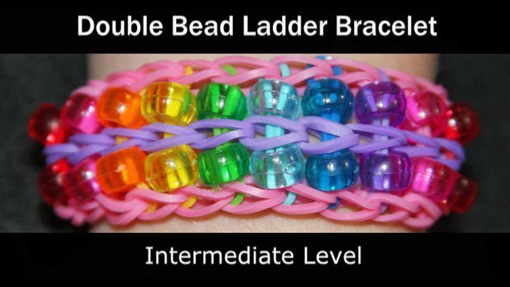Rainbow Loom Patterns: Double Bead Ladder Rainbow Loom Pattern (youtube tutorial)