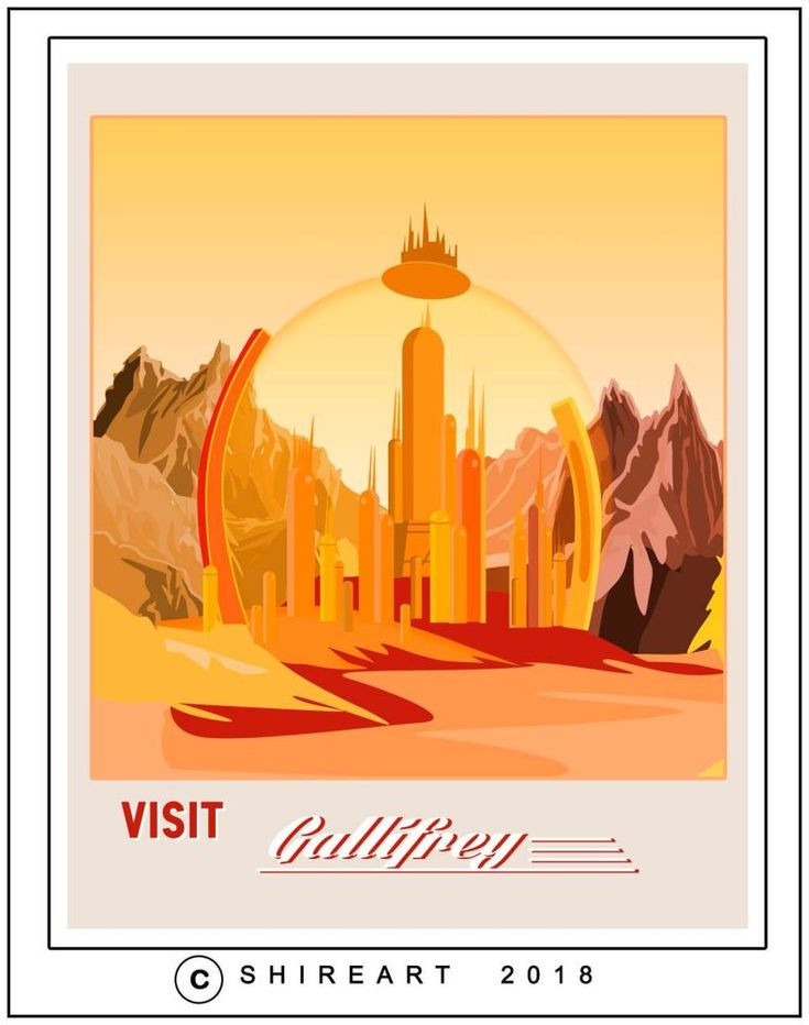 Dr Who Gallifrey Travel Poster