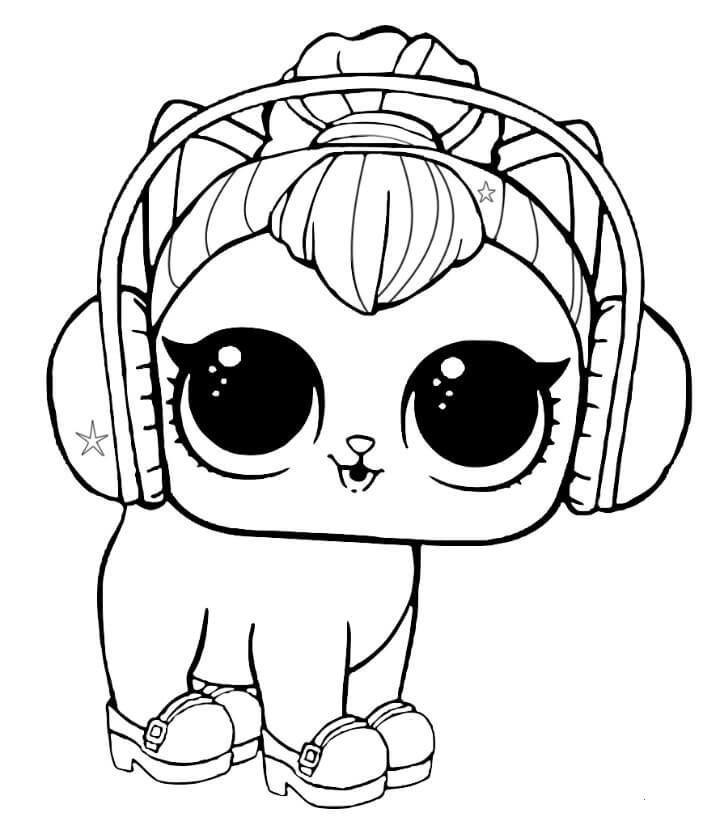 Ausmalbilder kostenlos zum ausdrucken: LOL Pets Kitty Kitty   – Lol – #Ausdrucke… – Lol Dolls