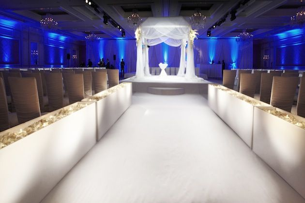 Beautiful! Indoor Ceremony  via Inside Weddings