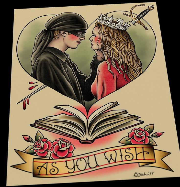 Image of The Princess Bride Tattoo Flash Art Print