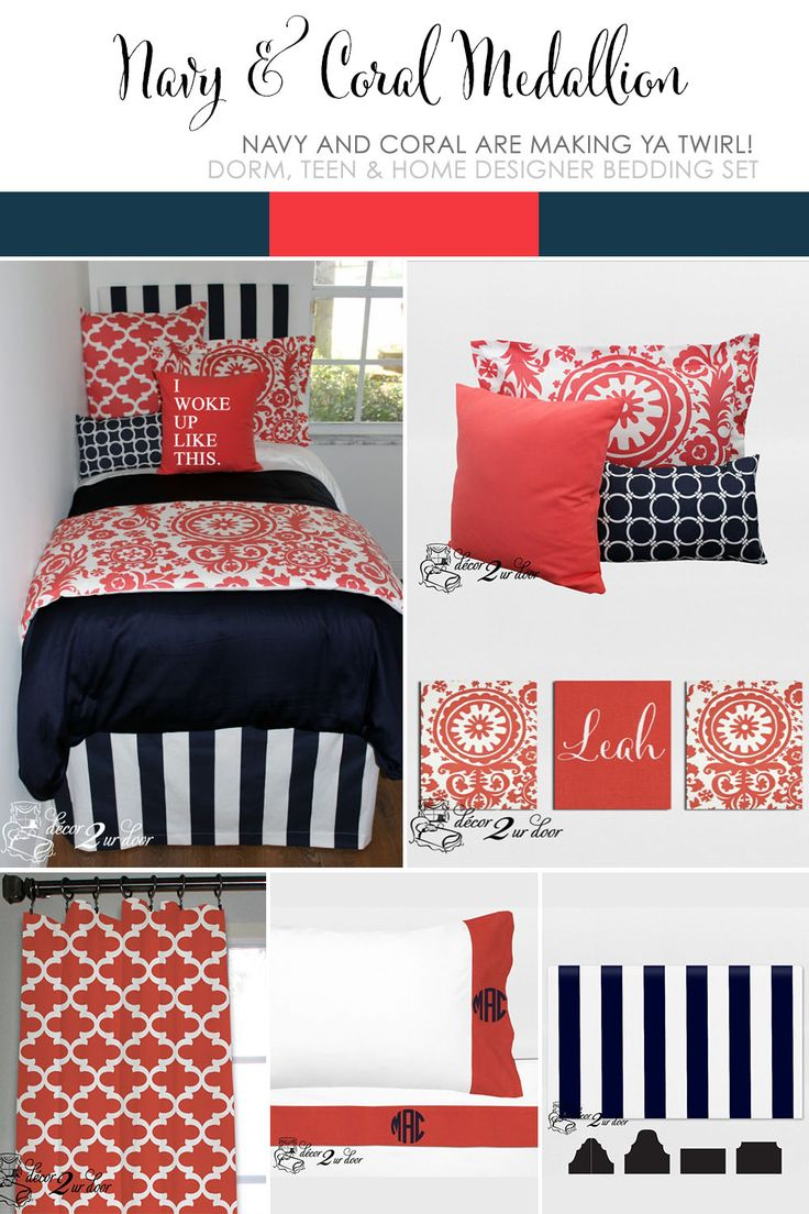 1000 images about coral and navy bedding and decor on 16495 | ff5c12ecbd005905df8529489e05a6f5