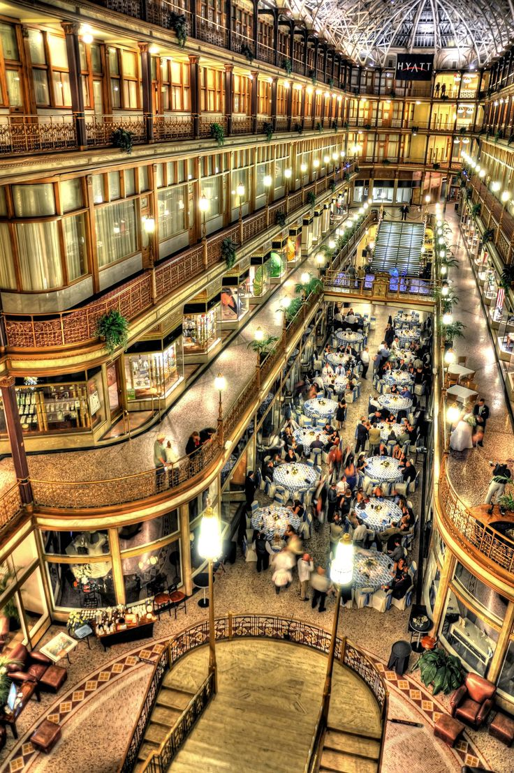 This is the first mall in America! When I visited Cleveland, I got to visit it.    Reception Idea-The Arcade - Cleveland, Ohio
