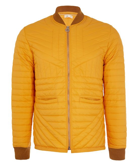 Folk, Yellow Cave Quilted Jacket, £240.00. #libertymen #libertyfashion #folkclothing #jacketformen