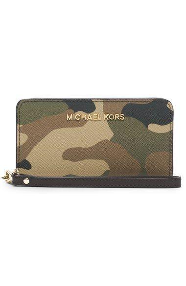 Michael Kors Geldbeutel Camouflage