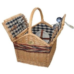 Sutherland Farmhouse Picnic Basket for 4 - SP229 -  $89.99