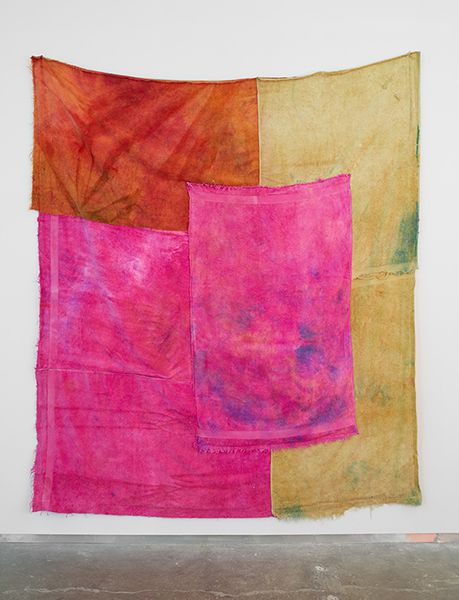ANNA BETBEZE SEX ON THE BEACH, 2013 ACID DYES ON TERRYCLOTH 110 X 92 INCHES