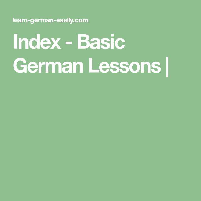 Index - Basic German Lessons  