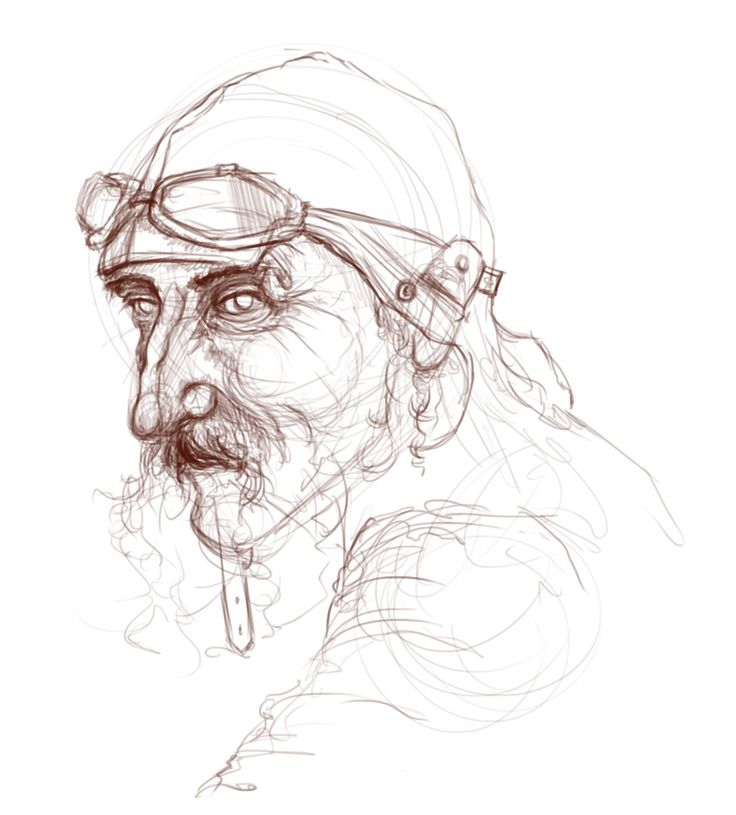 Old Biker - digital sketch