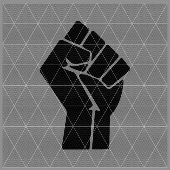 Raised Fist Black Power Stencil Mylar Plastic Sheet Reusable Durable Template In 2020 Spray Paint Artist Plastic Sheets Art Logo