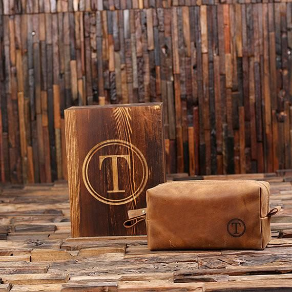 Our Personalized Dopp Kit and Wood Gift Box are one of a kind and truly unique. These make the perfect gifts for groomsmen, the best man, Father's Day and friends.