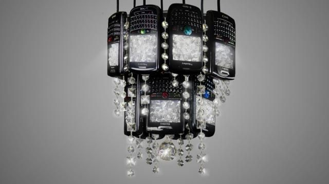 Old BlackBerry Devices Get A New Lease On Life As A Chandelier http://www.ubergizmo.com/2013/10/old-blackberry-devices-get-a-new-lease-on-life-as-a-chandelier/