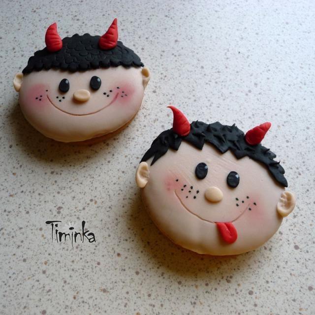 Mikulášské perníčky :-) ... čertíci | dorty od mámy