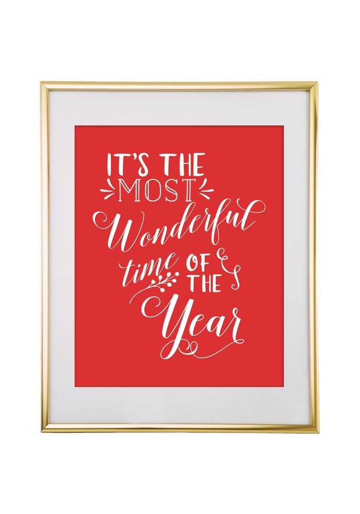 Download and print this It's the Most Wonderful Time of the Year free printable wall art for your home!