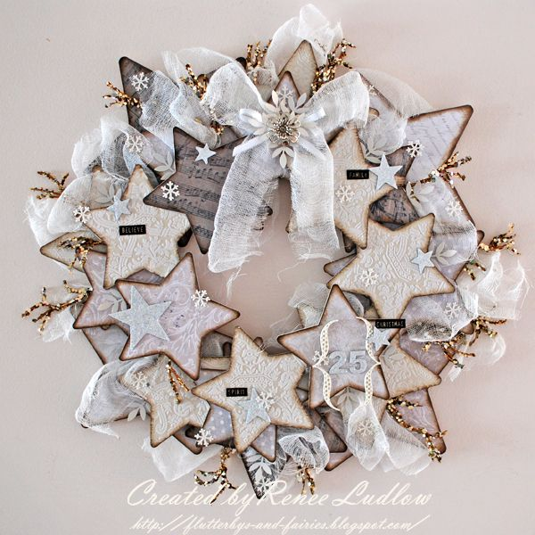 Star Wreath - looks like sugar cookies
