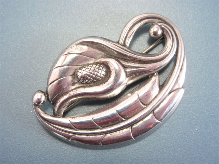 Vintage Sterling Calla Lily Flower Brooch by darsjewelrybox on Etsy