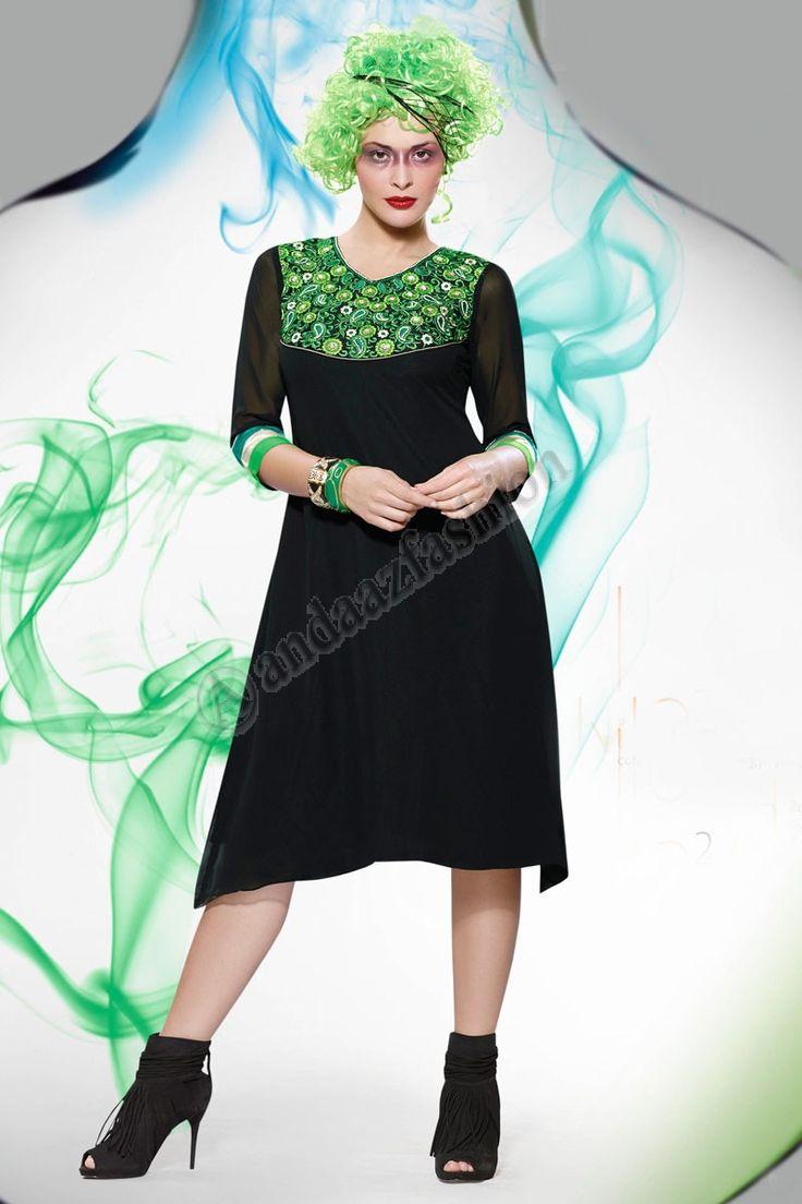 Noir Georgette Kurti Conception No- DMV12806 Prix- 44,15  Andaaz Fashion Designer New presente d arrivee Noir Georgette Kurti. Agrementee de Resham brode. Cette conception est parfaite pour le Parti, Festival, Casual.  @http://www.andaazfashion.fr/womens/kurti-tunic/black-georgette-kurti-dmv12806.html