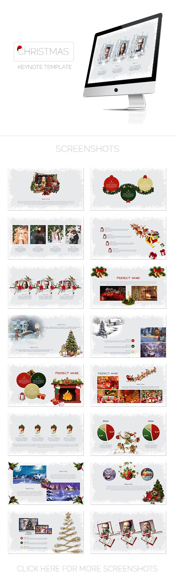 Christmas Keynote Presentation Template #design #slides Download: http://graphicriver.net/item/christmas-keynote-presentation-template/14121310?ref=ksioks