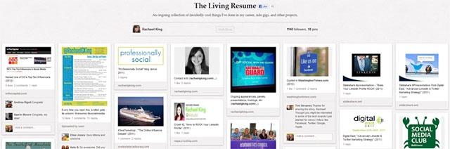 Featured/interviewed on Vocus' blog for my Pinterest resume board (June 2012)