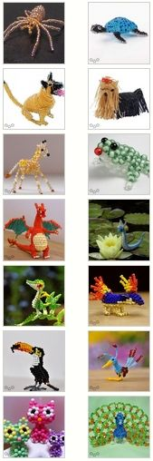 Animales con abalorios / Beaded animals