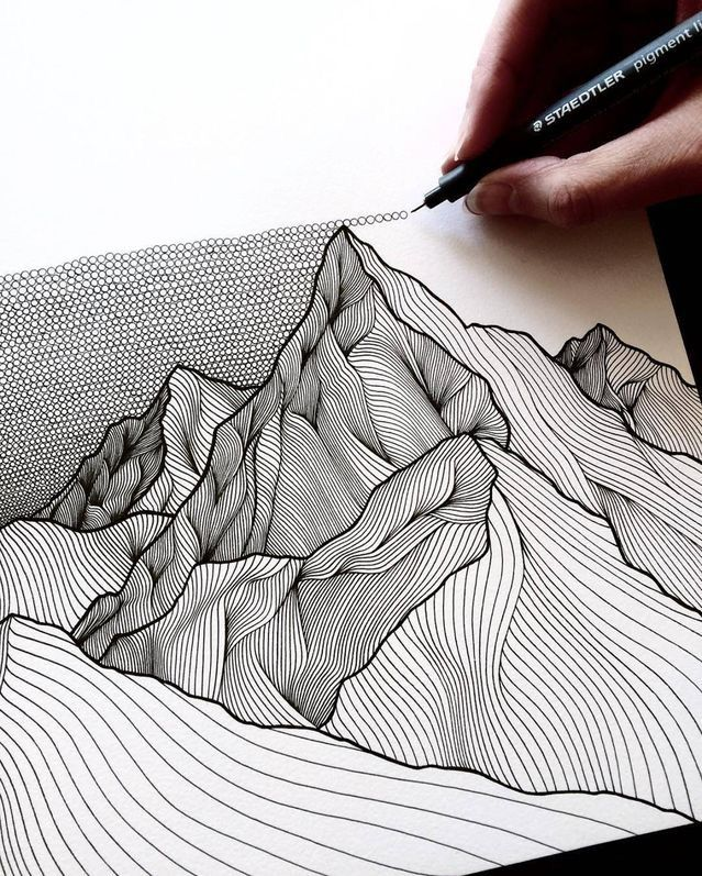 Drawing Ideas With Lines: Best 25+ 3d Drawings Ideas On Pinterest