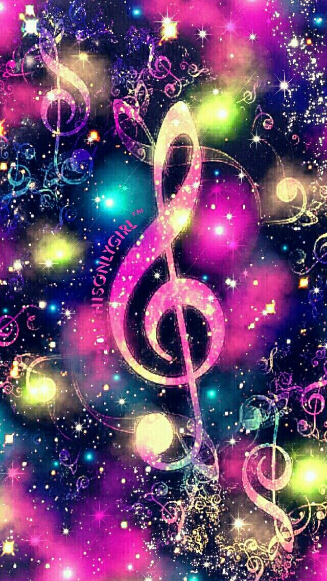 Musical mist galaxy iPhone/Android wallpaper I created for the app CocoPPa!