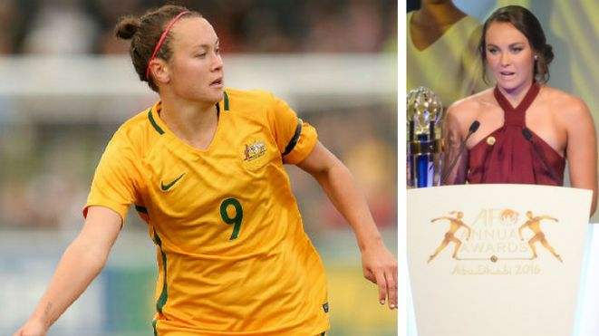Congratulations to Caitlin Foord, only the second player to win both the youth (2011) and senior (2016) awards after being named AFC Player of the Year last night, edging out Lisa De Vanna and China's Tan Ruyin. Foord dedicated the award to her Matildas team mates saying any of them could have won. 02.12.16