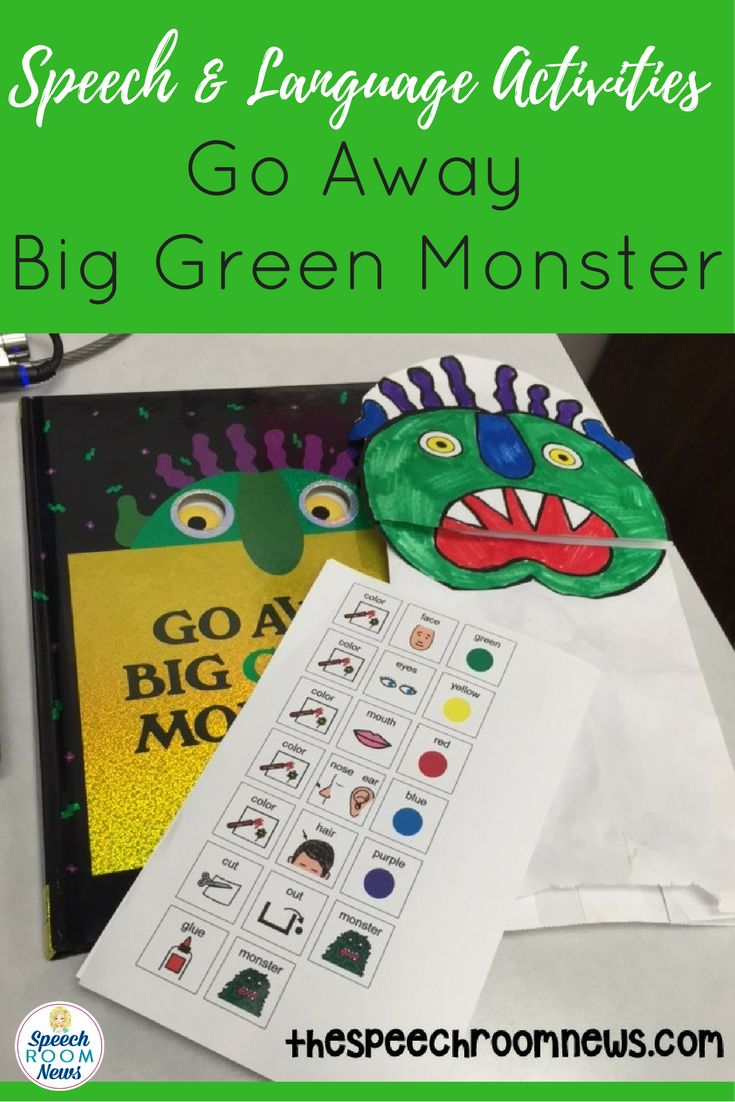 Go away big green monster for speech therapy speech room news