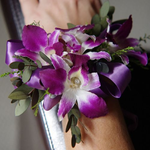 Purple Orchids Wrist Corsage And Orchids On Pinterest