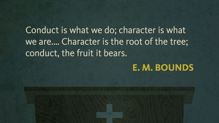 The difference between good conduct and good character. See the full quote at http://rsnbl.us/1S1JHzj