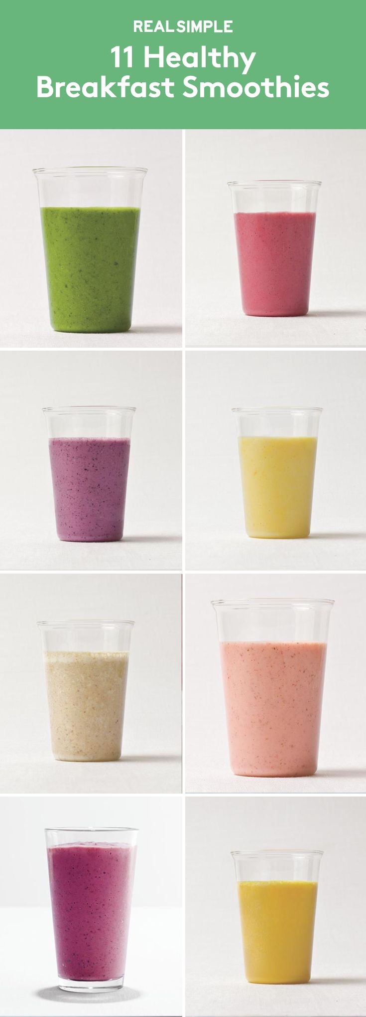 11 Healthy Breakfast Smoothies | Load up on fruits and vegetables by starting each morning with a nutritious blended drink.