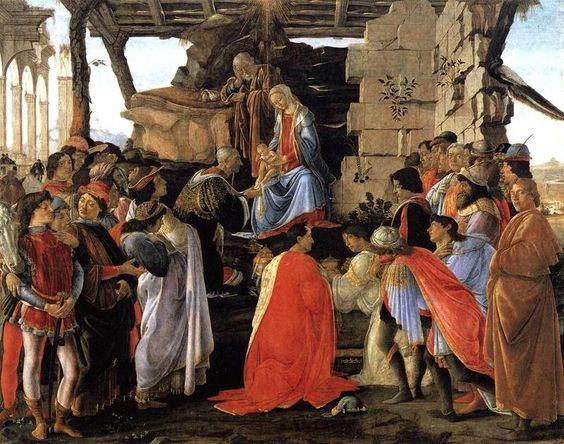 Sandro Botticelli, Adorazione dei Magi, 1475, Uffizi,Firenze