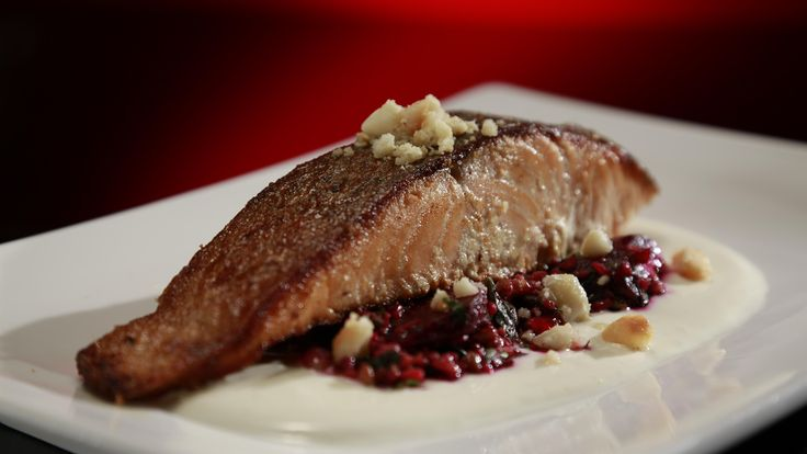 Cathy and Anna's Pan Seared Salmon with Roasted Beetroot and Freekeh Salad: http://gustotv.com/recipes/lunch/pan-seared-salmon-roasted-beetroot-freekeh-salad/