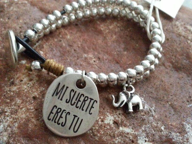 """Pulsera """"mi suerte eres tú""""  #pulseras #bisuteria #moda #hechoamano"""