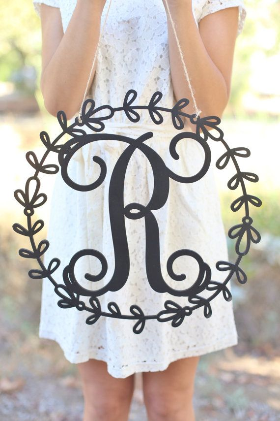 Personalized Rustic Wood Monogrammed Sign by Morgann Hill Designs #MorgannHillDesigns #BraggingBags (Item Number MHD20237)