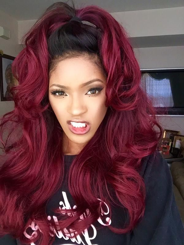 Awesome 1000 Images About Red Burgundy Weave On Pinterest Straight Short Hairstyles For Black Women Fulllsitofus