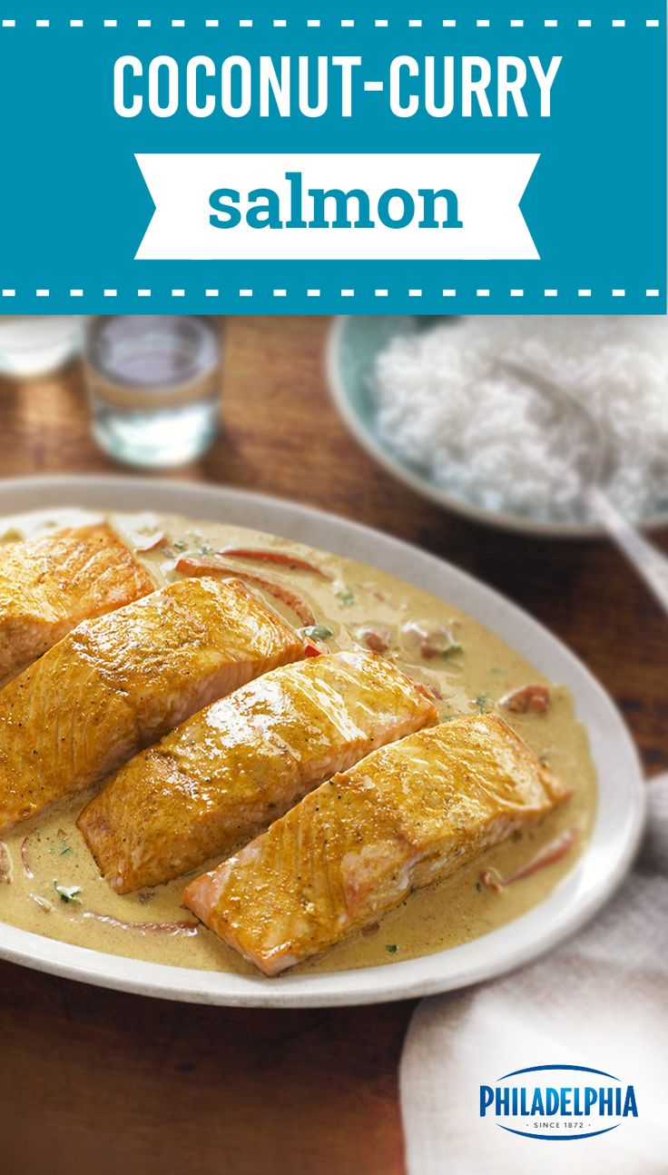 Coconut-Curry Salmon – Triple the zing in this lively seafood dish—complete with bold spice, fresh lime, and a creamy coconut sauce. Take a delectable taste tour thanks to this 25-minute dinner recipe.