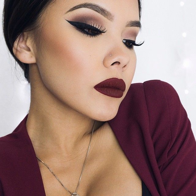 @linnnh looking stunning with a wine colored lip! Slim Lip Pencil in 'Cabaret'.  Find this shade and many more at @ultabeauty! || #nyxcosmetics #regram