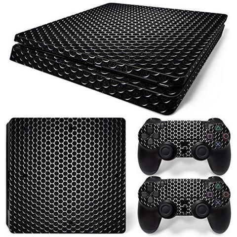 ModFreakz® Console/Controller Vinyl Skin Set – Silver Screen for PS4 Slim.Perfect gaming accessories for PS4 gamers, gamer girls, gamer couple and to…