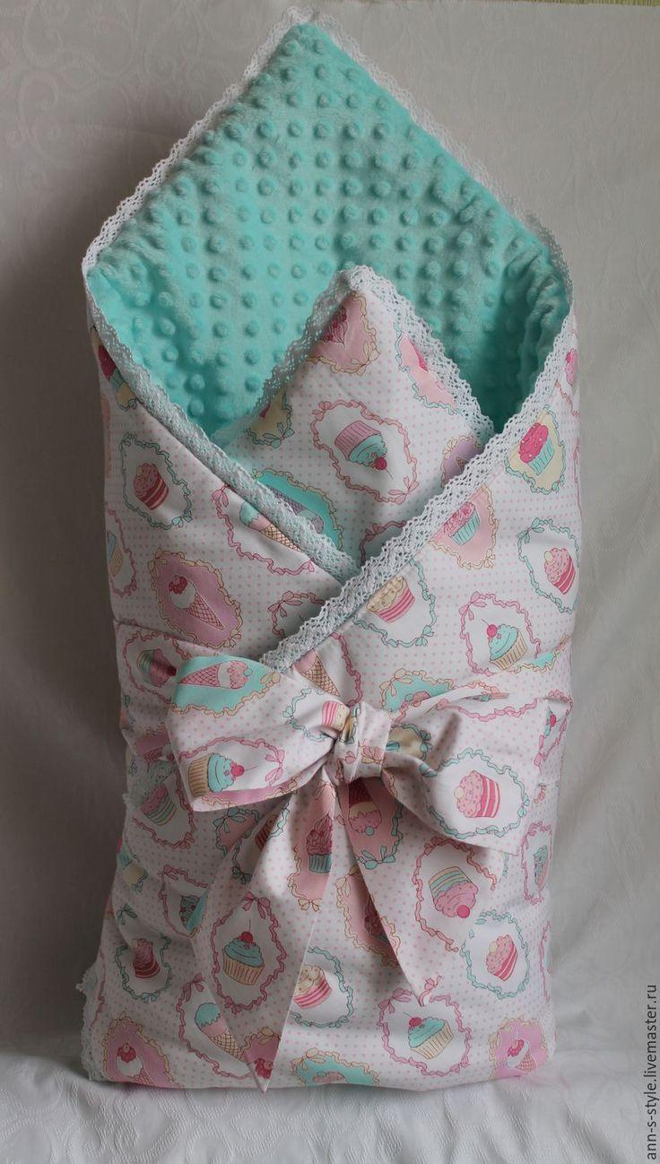 Купить Одеяло-конверт на выписку из роддома Sweet baby. - комбинированный, рисунок, теплое, лекое, одеяло